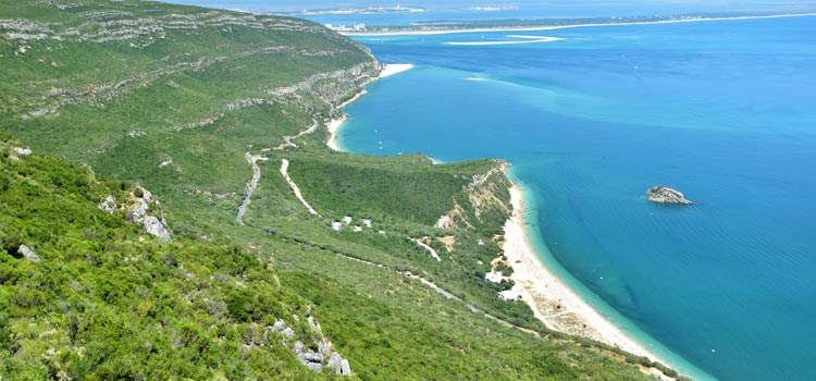 Serra da Arrabida beaches coastline